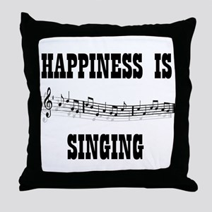 SINGING Throw Pillow