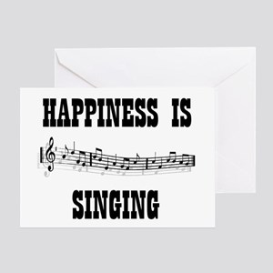 SINGING Greeting Card