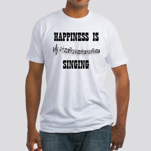 SINGING Fitted T-Shirt