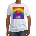 Love Wins - Rainbow Heart T-Shirt