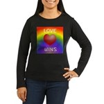 Love Wins - Rainbow Heart Long Sleeve T-Shirt