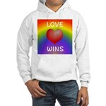 Love Wins - Rainbow Heart Hoodie