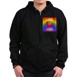 Love Wins - Rainbow Heart Zip Hoodie
