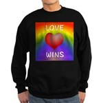 Love Wins - Rainbow Heart Sweatshirt