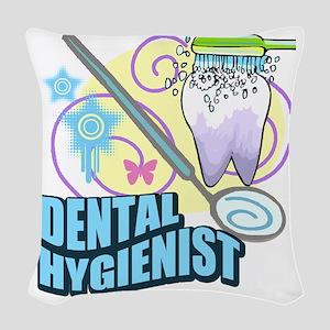 Dental Hygienists Woven Throw Pillow