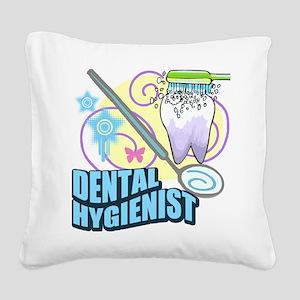 Dental Hygienists Square Canvas Pillow
