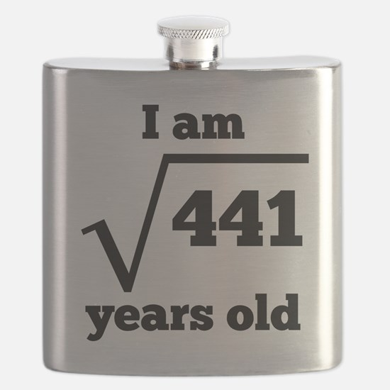 21st Birthday Square Root Flask