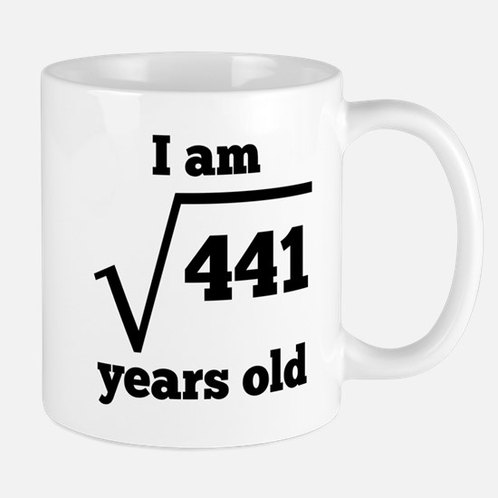 21st Birthday Square Root Mugs