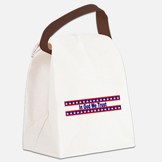 In God stripes Canvas Lunch Bag