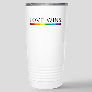 Love Wins Stainless Steel Travel Mug
