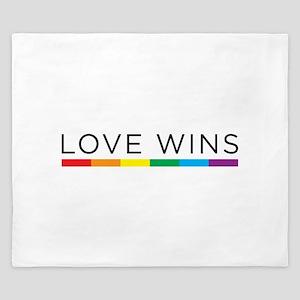 Love Wins King Duvet