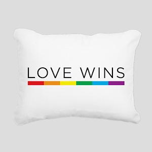 Love Wins Rectangular Canvas Pillow