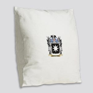 Hannaford Coat of Arms - Famil Burlap Throw Pillow
