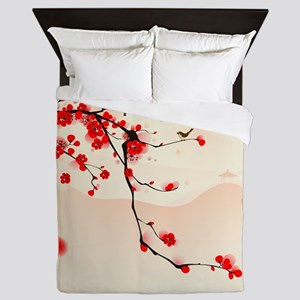 ASIAN TREE BRANCH Queen Duvet