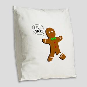 oh, Snap! Burlap Throw Pillow