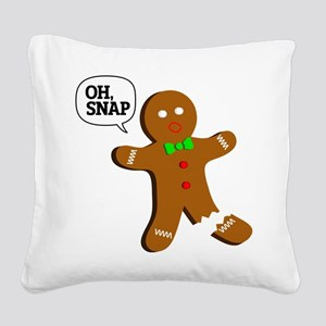 oh, Snap! Square Canvas Pillow