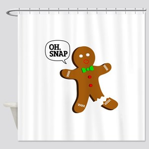 oh, Snap! Shower Curtain