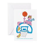 Ok-9 Inspiration (baskeball) Greeting Cards
