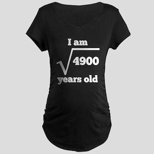 70th Birthday Square Root Maternity T-Shirt