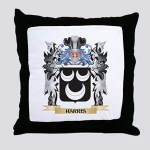 Harris Coat of Arms - Family Crest Throw Pillow