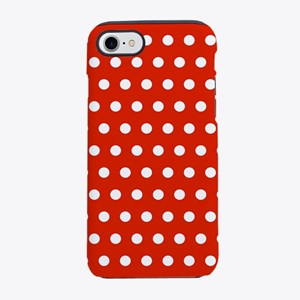 Red and White Polka Dots iPhone 8/7 Tough Case