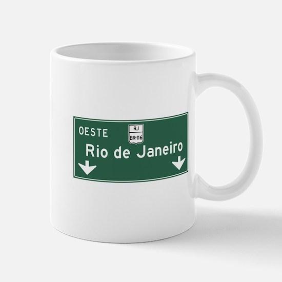 Rio de Janeiro Road Sign, Brazil Mug