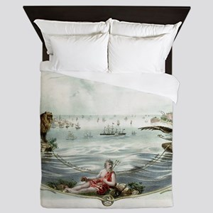 The Eighth wonder of the world Vintage Queen Duvet