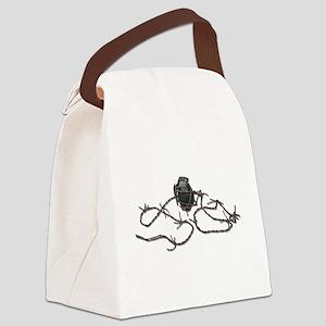 BarbedWireGrenade103110 Canvas Lunch Bag