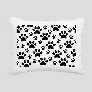 Dog Paws Rectangular Canvas Pillow