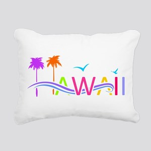 Hawaii Islands Rectangular Canvas Pillow