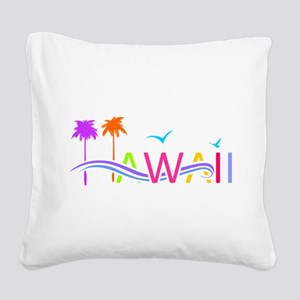 Hawaii Islands Square Canvas Pillow