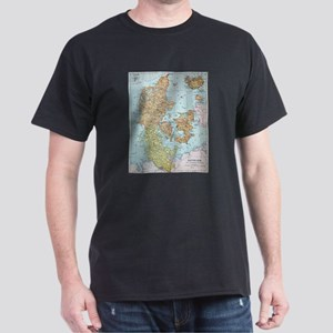 Vintage Map of Denmark (1905) T-Shirt