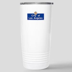 City of Los Angeles, Ca Stainless Steel Travel Mug