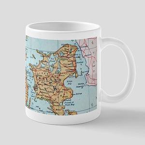Vintage Map of Denmark (1905) Mugs