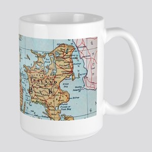 Vintage Map of Denmark (1905) Mugs