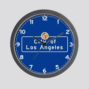 City of Los Angeles, California Wall Clock