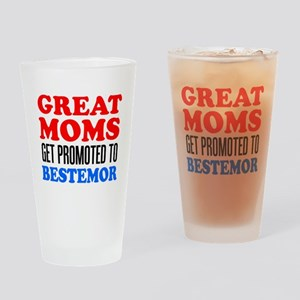 Promoted To Bestemor Drinkware Drinking Glass