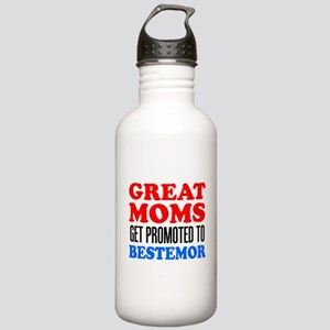 Promoted To Bestemor Drinkware Water Bottle