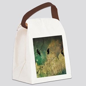 Crows And Clouds Canvas Lunch Bag