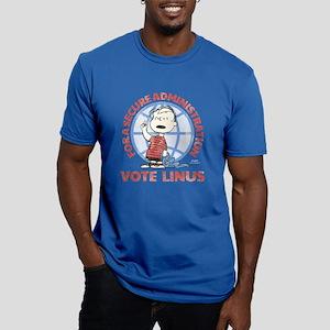 Vote Linus Men's Fitted T-Shirt (dark)