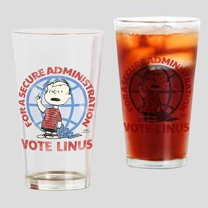 Vote Linus Drinking Glass