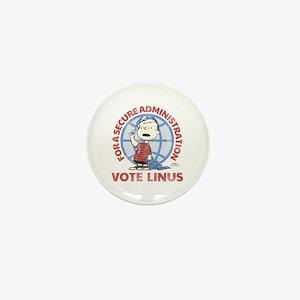 Vote Linus Mini Button