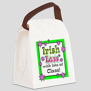 Irish Lass Canvas Lunch Bag