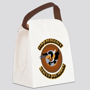 5th Emergency Rescue Squadron wit Canvas Lunch Bag