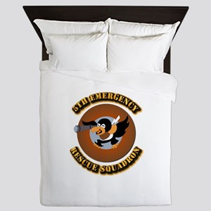 5th Emergency Rescue Squadron with Tex Queen Duvet