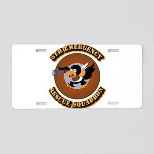 5th Emergency Rescue Squadr Aluminum License Plate
