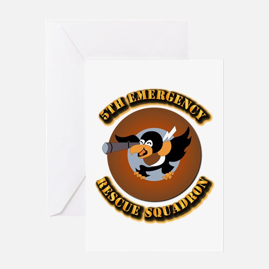 5th Emergency Rescue Squadron with T Greeting Card