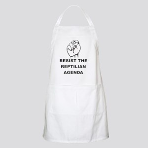 Resist The Reptilian Agenda Apron