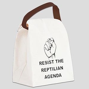 Resist The Reptilian Agenda Canvas Lunch Bag