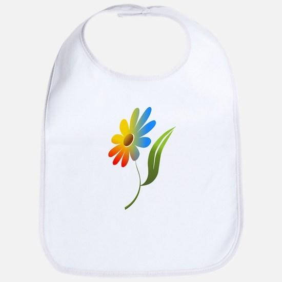 Rainbow Flower Bib